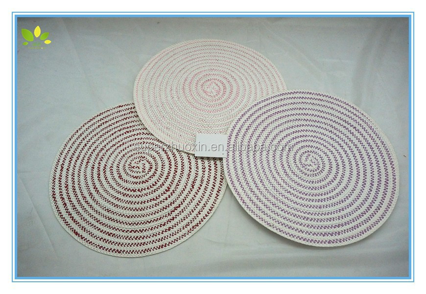 Wholesale plastic vinyl pp placemats for restaurant