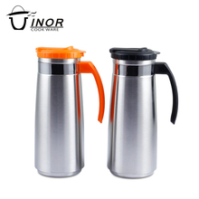 New korean style A type 1.3L cool water stainless steel tea pot to export