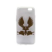 Clear Transparent Crystal Soft tpu wing printing mobile phone custom case for iphone 6 case