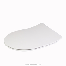 Ultra thin design Duroplast D shape slim soft close adult toilet