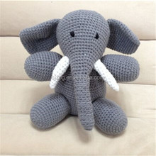 Crochet Knit baby stuffed Elephant toys