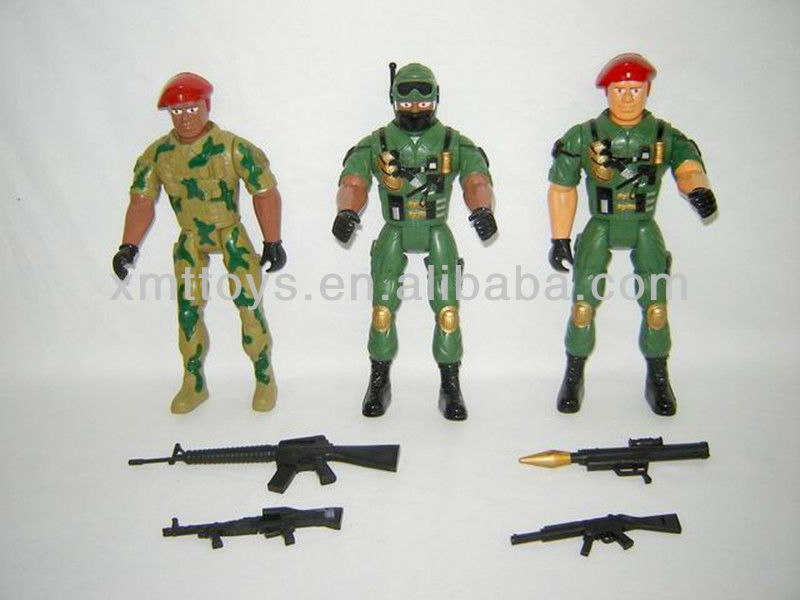 small polyresin toys action soldiers figures with weapon