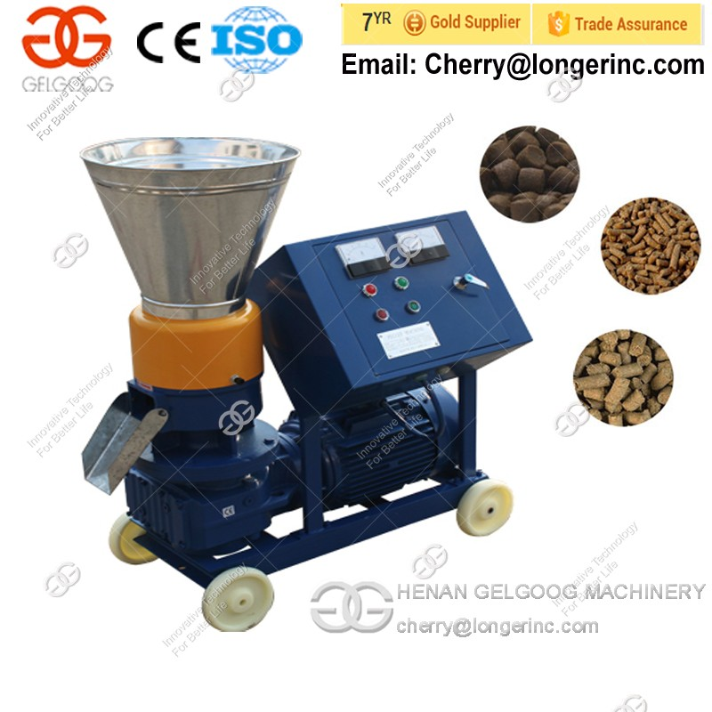 Flat-Die Animal Feed Pellet Machine