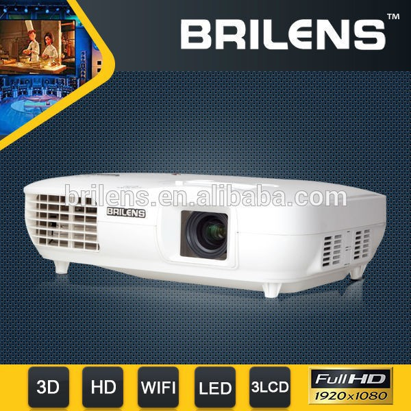 Stock in US 3LCD+ 3 LED Projector with brightness 3000 lumens 1920*1080P 3D LED Projector