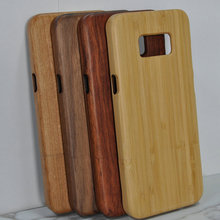 Pure Wood Color Handphone Case For Samsung S8 Plus Natural Bamboo Wooden Phone Case Accessories