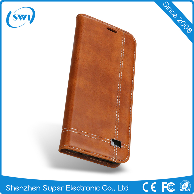 Comfortable to use pu leather wallet phone case for samsung s8