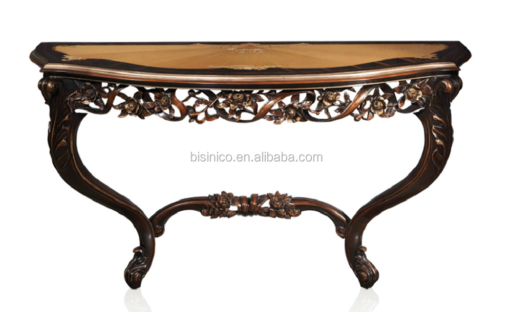 Bisini Living Room Solid Wood Console Table Antique