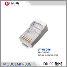 LY-US006 8P8C-Shield Cat.5e modular plug Modular Connector