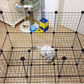 4/6/8 cubes pet cage grid mesh storage cabinet with black and white color