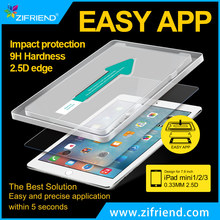 High clear Easy install Tempered glass for ipad mini ,Anti Fingger Printing Screen Protector flim for Ipad mini1