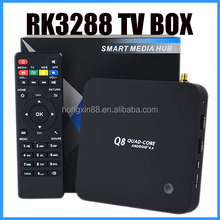 OEM Q8 rk3288 quad core android 4.4 iptv tv tuner box for lcd monitor