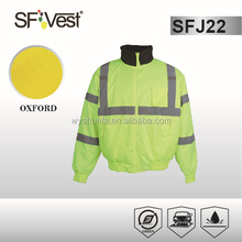ansi/isea 107-2010 security jacket ,3m high visibility reflective tape , 100% polyester 300D oxford fabric