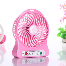 China Supplier Rechargeable Battery Mini Usb Fan For Desktop Cooling Fan Support Charging
