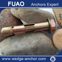 carbon steel sleeve anchor with hex bolt electroplated M10