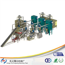 Waste crushing washing recycling machine e waste recycling e waste pcb recycling machine