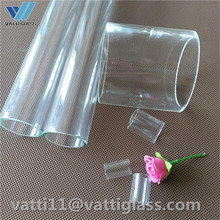 clear borosilicate glass tube pipe rods per drawing
