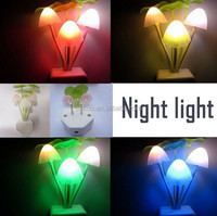 TOP sale light of christmas 2015 high quality factory wholeslae flashing toys led wall light evening lamp sensor mushroom