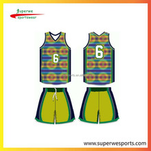 reversible sublimation custom exercise shirts and uniforms basketball with fast drying fabric