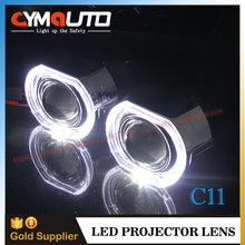 2.5 inch Auto Lighting Headlight LED Light Guide Angel Eyes HID Projector Lens Light