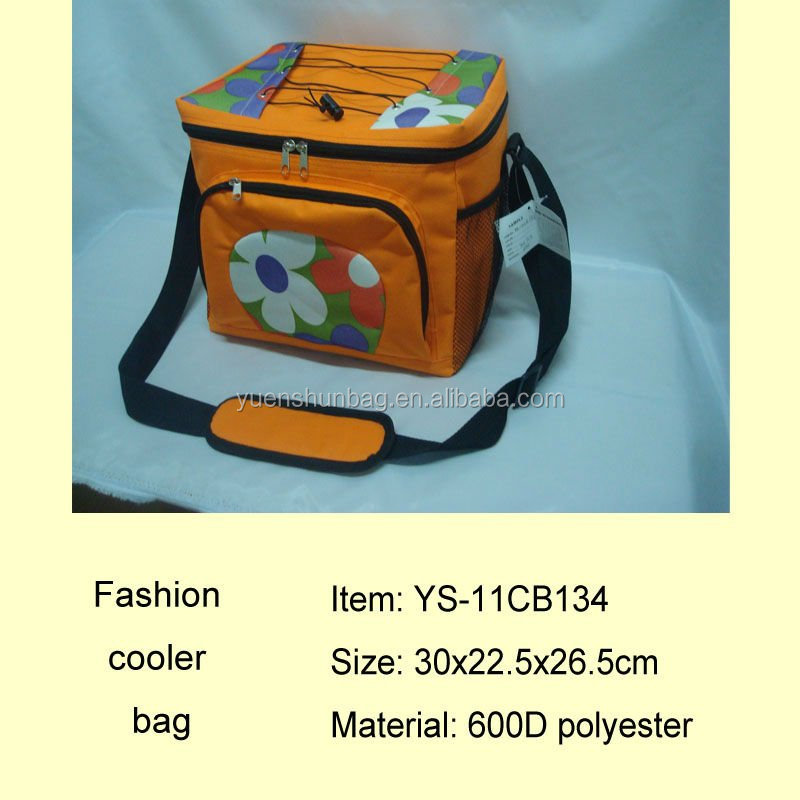 Priting fabric Ice cream cooler bag insulated lunch box