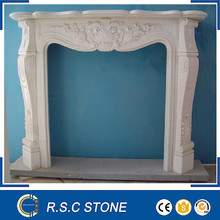 French style white marble fireplaces mantel
