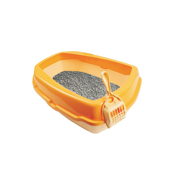 Small plastic cat litter box cat toilet for sale