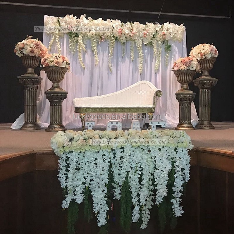 LFB511 wedding church background hanging flower stage backdrop hanging flower wholesale