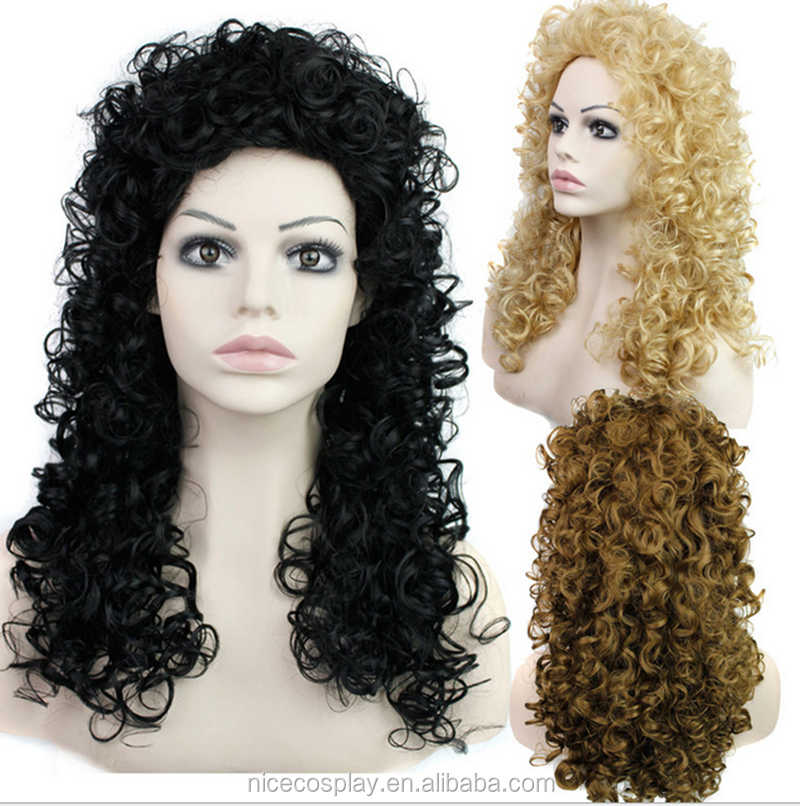 26 inch Afro Fluffy Kinky curly Synthetic hair Wigs wholesale