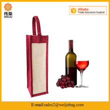 Wholesale cheap wine jute tote bags
