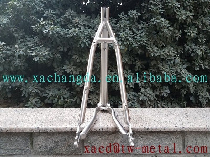 XACD made titanium MTB bike frame custom titanium mtb bike frame with sliding dropouts