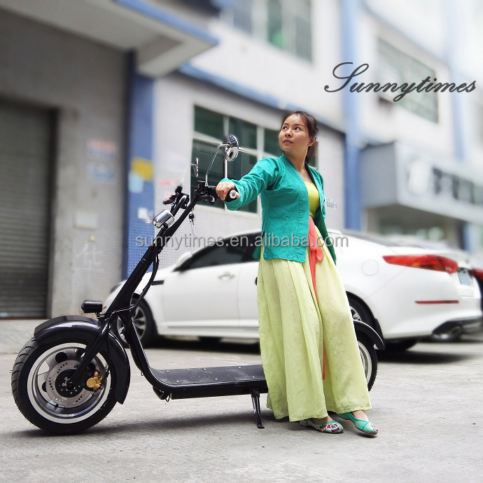 Sunnytimes 800W Two Wheels Electric Motorbike For Adults With Brake Function 60V Lithium Battery