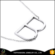 New Design Letter Stainless Steel Necklace Custom Alphabet Charms Metal Pendant