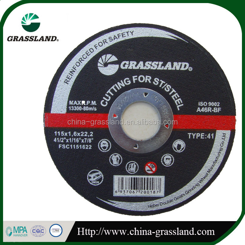 "new design and hot sale 4 1/2"" abrasive cutting disc for inox stainless steel"