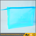 customized OEM LOGO printed blue color clear bikini swimwear suit plastic packaging bags with slider zipper
