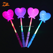 Led glow in the dark stick heart light sticks for party