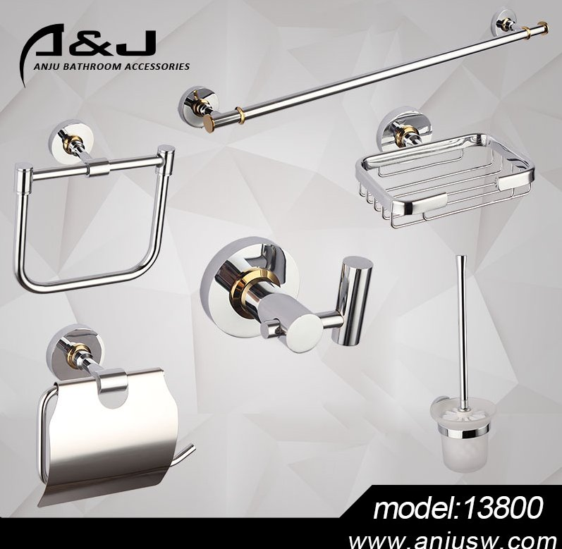 Brass Bathroom Accessory Set Bath Hardware Fitting Sanitary Ware Hotel Bathroom Accessories Set