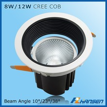 guangzhou 8w IP20 5inch recessed led downlight square ceiling light cover