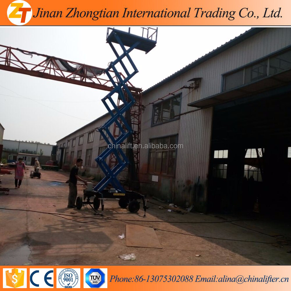 Supply Movable Manual Scissor Small Boom Lifts