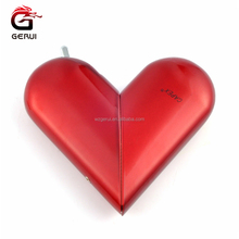 Gerui Heart shape Double Used Rechargeable Flameless and Refillable Butane Gas Lighter