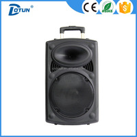 Dotun factory 12-15 inch battery speaker, trolley speaker , DJ sound box
