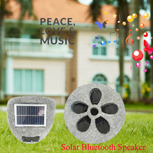 SCL0310 resin rock artificial stone speaker solar powered waterproof wireless outdoor speaker