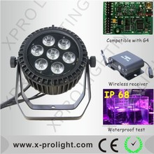 Night club lights 7x15W led slim par can wireless led uplighting/ lighting equipment for home discos