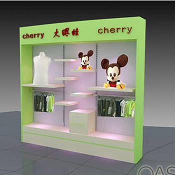 Retail shop display baby clothes shelf