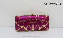 KT-7989A-72 Women Evening Clutch Bag Hard Case Metal Frame Evening PU Clutch Bag Hard Evening Bags