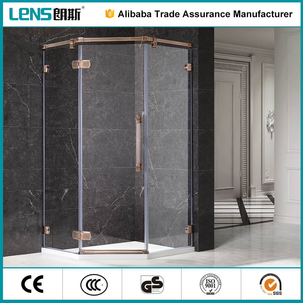 Latest design bathroom showers enclosed shower units from china supplier
