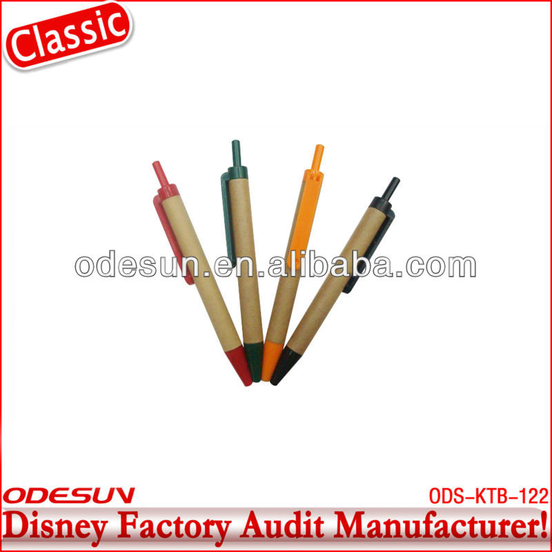 Disney factory audit manufacturer's recycled paper ball pen 143059