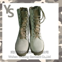 [Wuhan YinSong] Cheap brand Industrial high neck steel toe Genuine leather safety boots