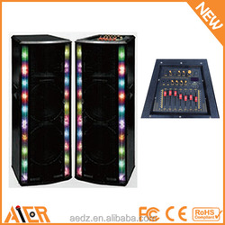 "Hot sale in America US model 15"" double 15"" doouble 12 inch kareoke speaker, karaoke machine usa, usa karaoke system"