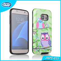 Newest 2 in 1 customize printing blank PC mobile phone case for samsung galaxy S7 plus