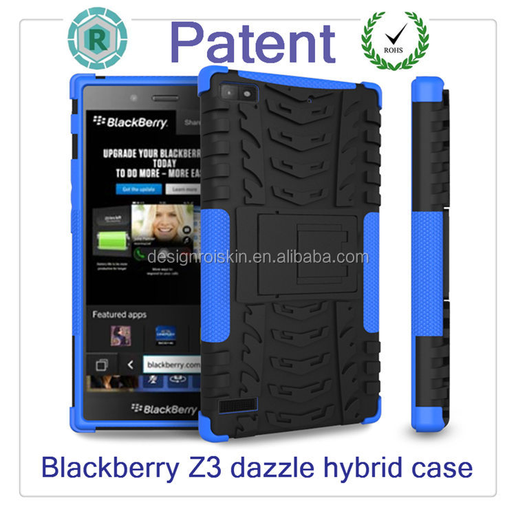bumper shockproof back cover phone case for blackberry z3